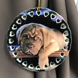 Custom Ceramic Pet Photo Christmas Ornament with Dog Photo Personalized Ornament with Your Pet's Photo | Enchanted Memories, Custom Engraving