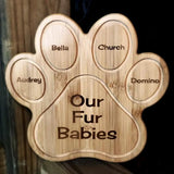 Custom Engraved Paw Print Bamboo Cutting Board Made for You | Enchanted Memories, Custom Engraving