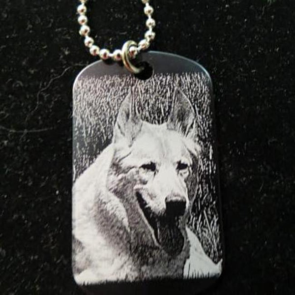 Custom Engraved Pet Photo Dog Tag Keychain with Picture of My Dog or Cat Etched Picture Keychain | Enchanted Memories, Custom Engraving & Unique Gifts