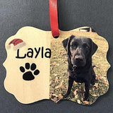 Custom Pet Picture Christmas Ornament Dog Lovers Ornament with Photo