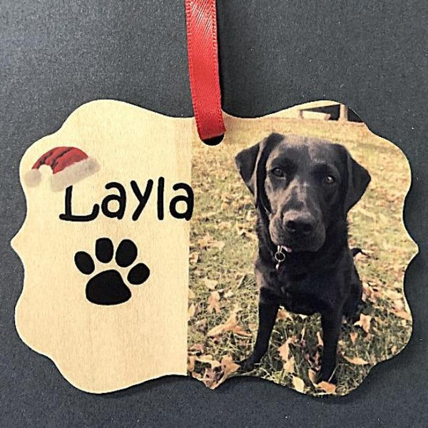 Custom Pet Picture Christmas Ornament Dog Lovers Ornament with Photo of Man's Best Friend. In Loving Memory Dog Christmas Ornament | Enchanted Memories, Custom Engraving