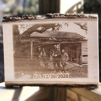 Solid Wood Photo Home Plaque