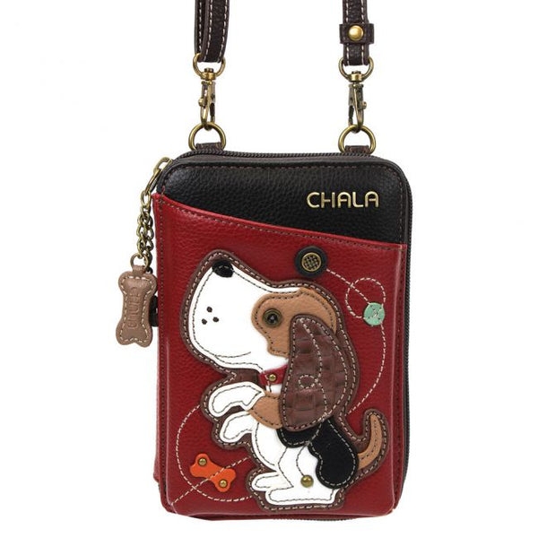 CHALA Crossbody Cell Phone Case/Wallet - Dog - Enchanted Memories, Custom Engraving & Unique Gifts