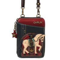 CHALA Crossbody Cell Phone Case/Wallet - Horse - Enchanted Memories, Custom Engraving & Unique Gifts