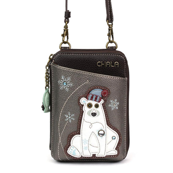 CHALA Crossbody Cell Phone Case/Wallet - Polar Bear - Enchanted Memories, Custom Engraving & Unique Gifts