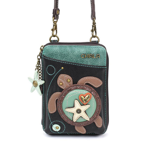CHALA Crossbody Cell Phone Case/Wallet - Sea Turtle - Enchanted Memories, Custom Engraving & Unique Gifts