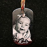 Personalized Photo Dog Tag Keychain - Enchanted Memories, Custom Engraving & Unique Gifts