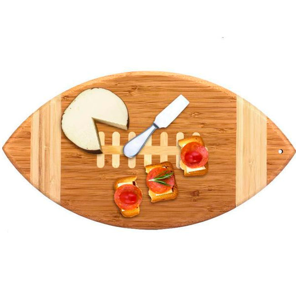 Engraved Football Bamboo Cutting and Serving Board | Enchanted Memories, Custom Engraving & Unique Gifts