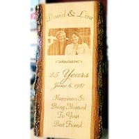 Engraved Couples Photo Wooden Plaque Etched with Your Own Photograph Makes the Perfect Wedding or Anniversary Gift  | Enchanted Memories, Custom Engraving & Unique Gifts