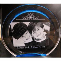 Engraved Kids Photo Etched Gift for Parents or Grandparents | Enchanted Memories, Custom Engraving & Unique Gifts