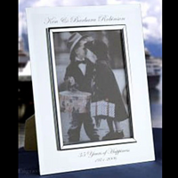 Engraved Mirror Glass Wedding Picture Frame Etched Photo Frame for Wedding Photo, Baby Photo, Remembrance Photo | Enchanted Memories, Custom Engraving
