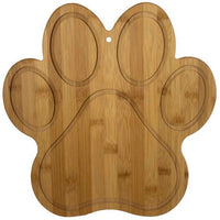 Custom Engraved Bamboo Paw Print Cutting Board Perfect for Dog Loving Chef Gifts | Enchanted Memories, Custom Engraving