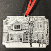 Engraved Photo of Home or Car on Christmas Ornament Acrylic | Enchanted Memories, Custom Engraving & Unique Gifts