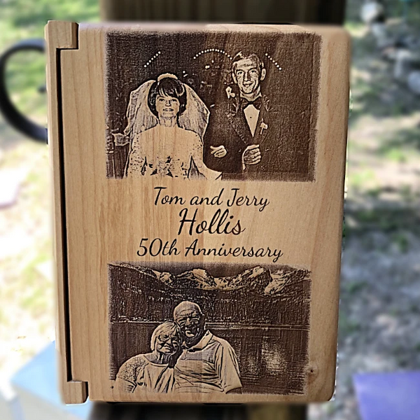 Our Photo Engraved Wood Anniversary Photo Album, is wonderful with your special picture engraved right on the front.