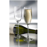 Etched Champagne Toasting Flutes Personalized for Wedding or Anniversary Celebration Party Engraved with your custom text