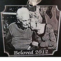 Etched Photo Picture Christmas Ornament Anniversary In Memory Of | Enchanted Memories, Custom Engraving & Unique Gifts