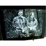Etched Wedding Photo Gift For Couples with Engraved Picture | Enchanted Memories, Custom Engraving & Unique Gifts