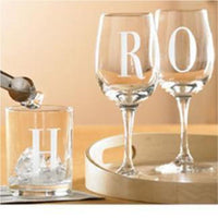 Etched Wine Glasses Engraved For Your Wedding or Party with your choice of wording