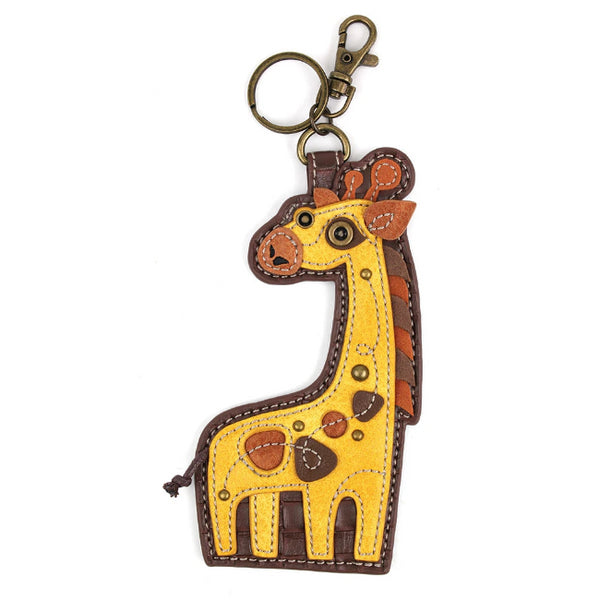 CHALA Giraffe Key Fob, Purse Charm - Enchanted Memories, Custom Engraving & Unique Gifts
