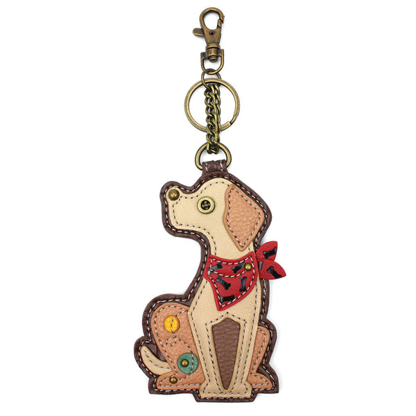 CHALA Yellow Lab - Key Fob, Purse Charm - Enchanted Memories, Custom Engraving & Unique Gifts