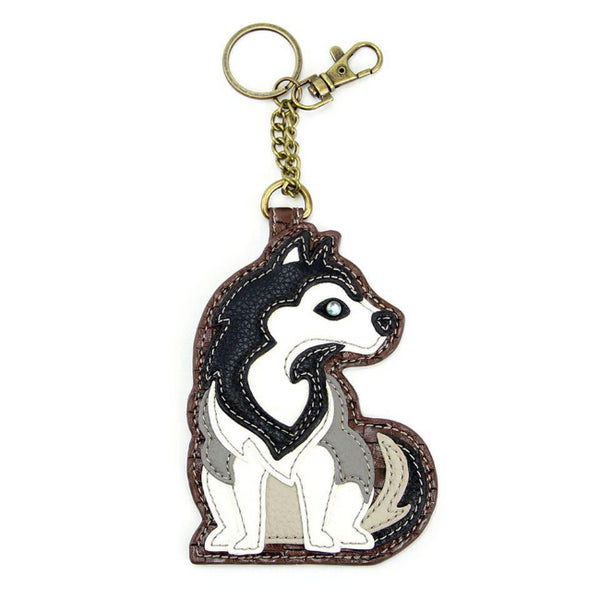 CHALA Husky Key Fob, Coin Purse, Purse Charm - Enchanted Memories, Custom Engraving & Unique Gifts