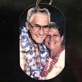 Personalized Wedding / Anniversary Photo Dog Tag - Enchanted Memories, Custom Engraving & Unique Gifts