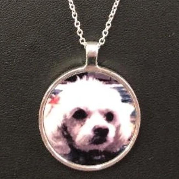 Pet Photo Pendant Necklace - Enchanted Memories, Custom Engraving & Unique Gifts