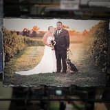 Wedding / Anniversary Slate Photo Plaques - Enchanted Memories, Custom Engraving & Unique Gifts