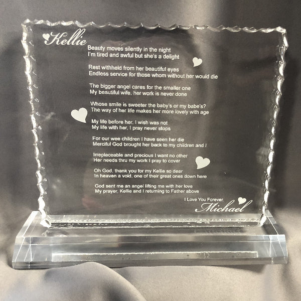 Our Personalized Anniversary Poem Gift - Enchanted Memories, Custom Engraving & Unique Gifts