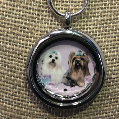 Pet Lover's Photo Locket Necklace - Enchanted Memories, Custom Engraving & Unique Gifts