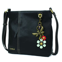 CHALA Laser Cut Crossbody with Metal Dragonfly Keychain - Enchanted Memories, Custom Engraving & Unique Gifts