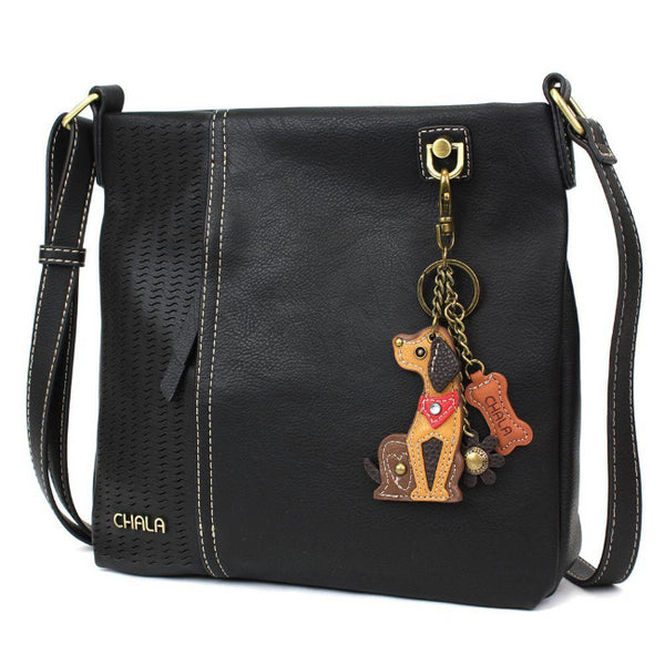 CHALA Laser Cut Crossbody with Dog Keychain - Enchanted Memories, Custom Engraving & Unique Gifts