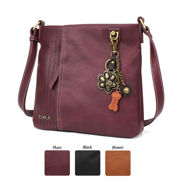 CHALA Laser Cut Crossbody with Metal Paw Keychain - Enchanted Memories, Custom Engraving & Unique Gifts