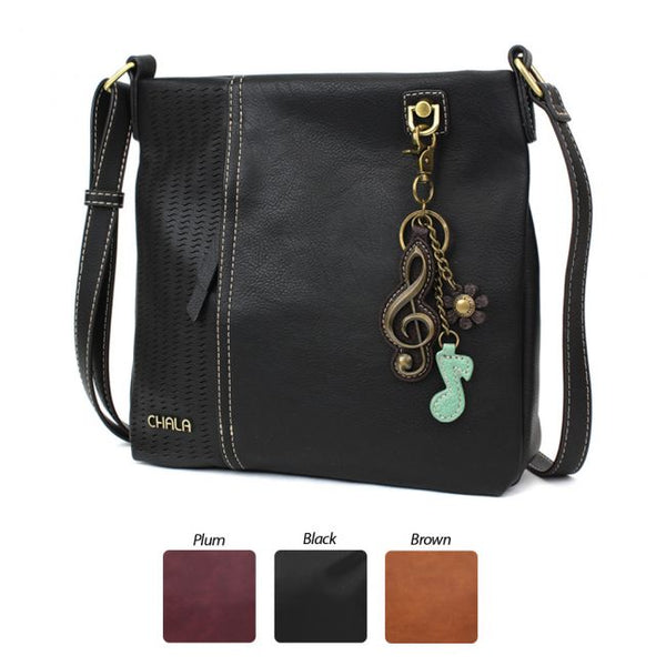CHALA Laser Cut Crossbody with Metal Treble Clef Keychain - Enchanted Memories, Custom Engraving & Unique Gifts