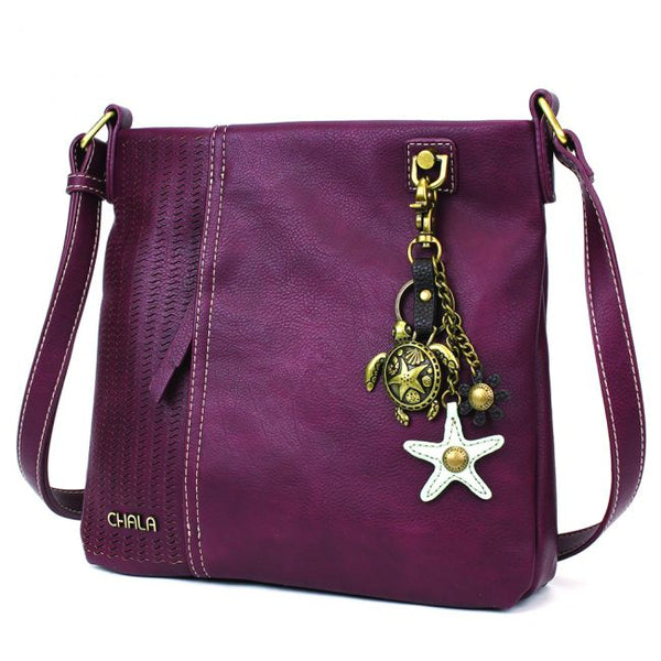 CHALA Laser Cut Crossbody with Metal Turtle Keychain - Enchanted Memories, Custom Engraving & Unique Gifts