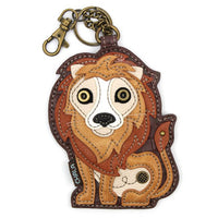 CHALA Lion Key Fob, Coin Purse, Purse Charm - Enchanted Memories, Custom Engraving & Unique Gifts