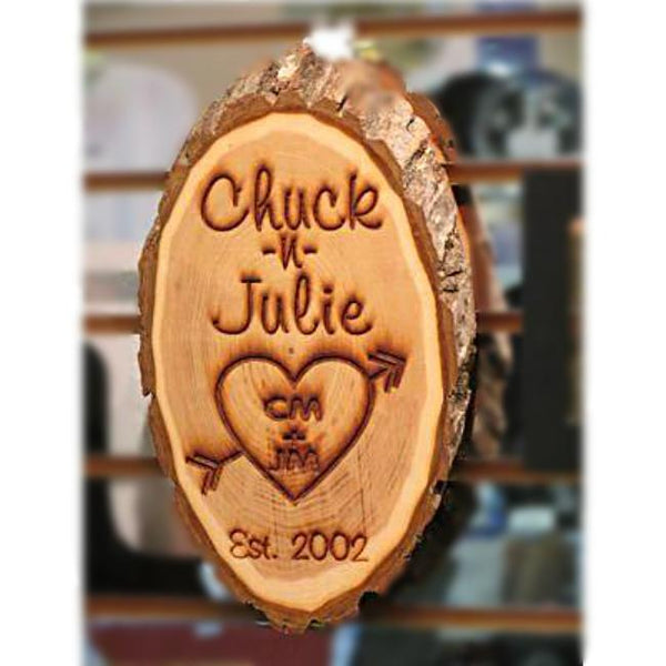 Personalized Wooden Love Plaque - Enchanted Memories, Custom Engraving & Unique Gifts