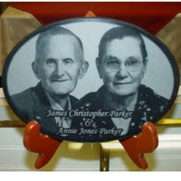 Marble Anniversary Oval Photo Plaque - Enchanted Memories, Custom Engraving & Unique Gifts