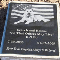 Marble Pet Memorial Photo Plaque - Enchanted Memories, Custom Engraving & Unique Gifts