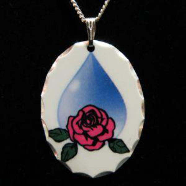 Full Color Memorial Tear Pendant - Enchanted Memories, Custom Engraving & Unique Gifts