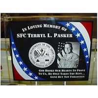 Military Memorial Photo Plaque Gift with Veteran Picture | Enchanted Memories, Custom Engraving & Unique Gifts