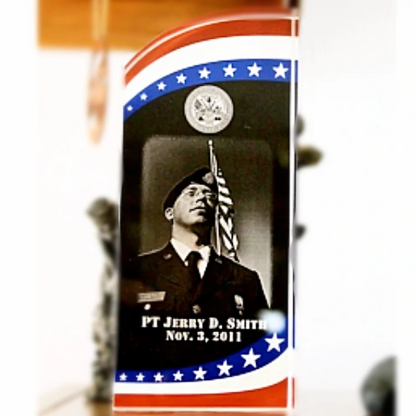 Military Veterans Stars and Stripe Engraved Photo Plaque | Enchanted Memories, Custom Engraving & Unique Gifts