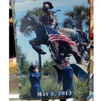 Military Photo Slate Plaque - Enchanted Memories, Custom Engraving & Unique Gifts