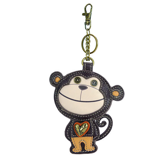 CHALA Monkey Key Fob, Purse Charm - Enchanted Memories, Custom Engraving & Unique Gifts