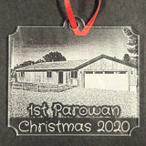 Personalized Home & Car Photo Christmas Ornament