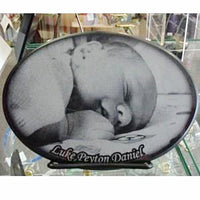 Marble Baby Photo Tile - Enchanted Memories, Custom Engraving & Unique Gifts