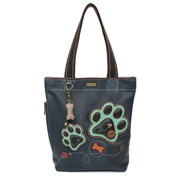 CHALA Everyday Zip Tote - Paw Print - Enchanted Memories, Custom Engraving & Unique Gifts