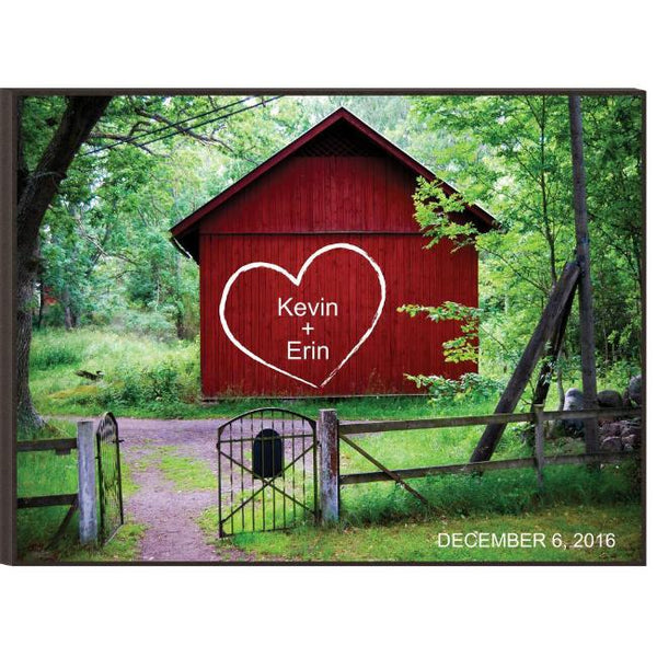 Personalized Couples Barn Engraved Plaque Great for Weddings and Anniversary