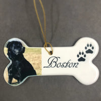 Personalized Photo Dog Ornament with Picture of your best friend Custom Picture Gifts for Dog Lovers | Enchanted Memories, Custom Engraving & Unique Gifts