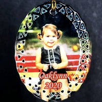 Personalized Photo Christmas Ornament custom made with your special photo. Perfect for children, pets, couples or in memory of.